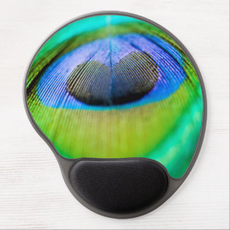 Peacock Feather Gel Mouse Mat