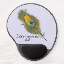 Peacock Feather Gel Mouse Pad