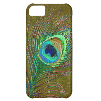 Peacock feather green iPhone 5 cases