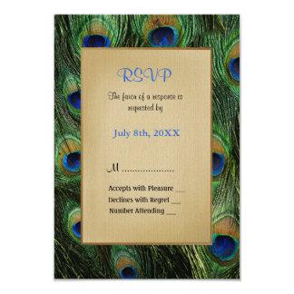 Peacock Feather Green Wedding - RSVP Card