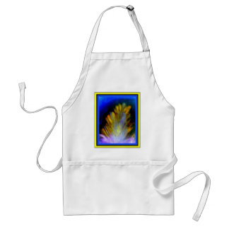 Peacock Feather in rich colorful colors abstract Adult Apron