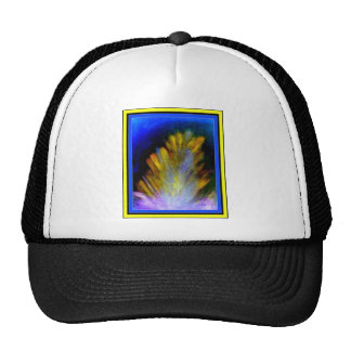 Peacock Feather in rich colorful colors abstract Trucker Hat
