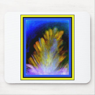 Peacock Feather in rich colorful colors abstract Mouse Pad