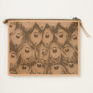 peacock feather inky travel pouch