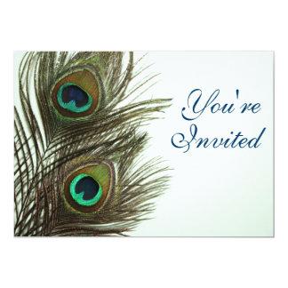 """Peacock Feather Invitaiton 5"""" X 7"""" Invitation Card"""