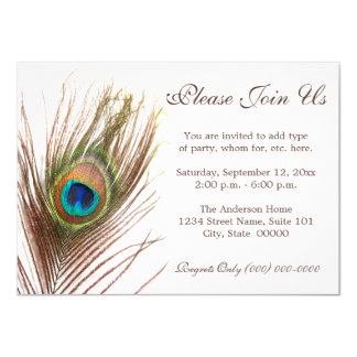 Peacock Feather Invitation