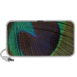 Peacock feather iPod speakers