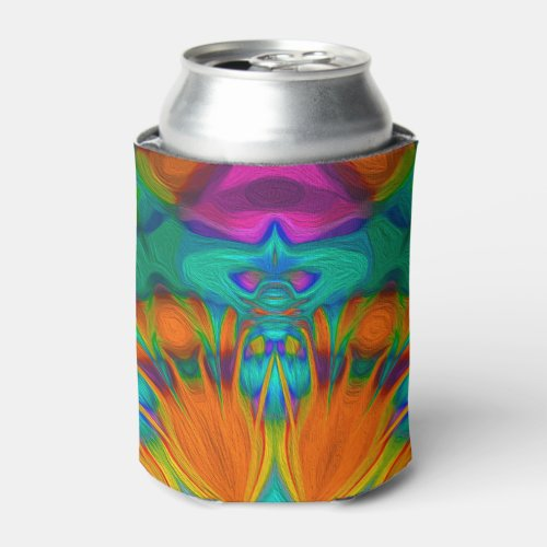 Peacock feather kaleidoscope 2 can cooler