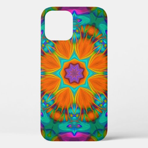 Peacock feather kaleidoscope 2 iPhone 12 pro case