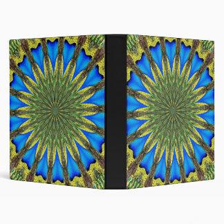 Peacock Feather Kaleidoscope 3 3 Ring Binder