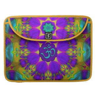 Peacock feather kaleidoscope aum sleeve for MacBooks