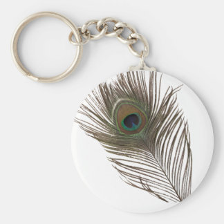 Peacock feather keychain