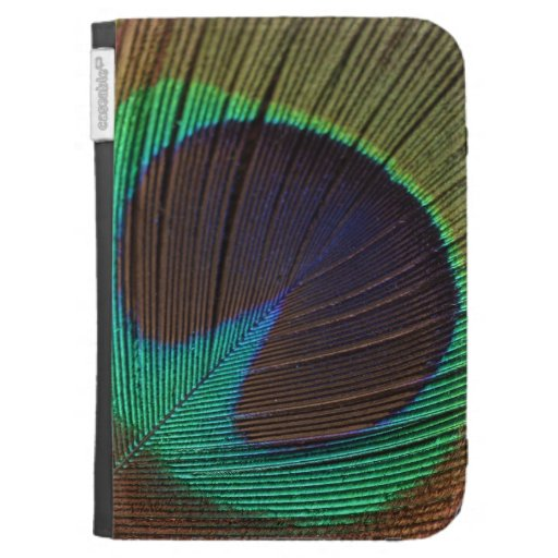 Peacock feather kindle cases