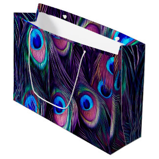 Peacock Feather Large Gift Bag
