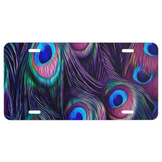 Peacock Feather License Plate