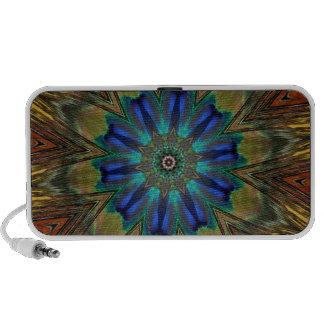 Peacock Feather Mandala Kaleidoscope Laptop Speaker