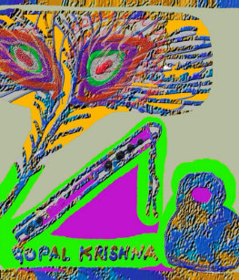 peacock feather n flute of krishna gifts on zazzle