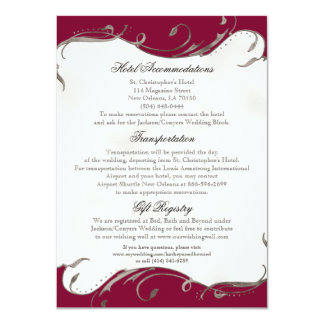 Peacock Feather n Swirls - Reception, Map, Hotel Card