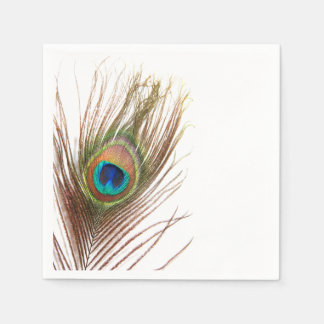 Peacock Feather Napkins Paper Napkins