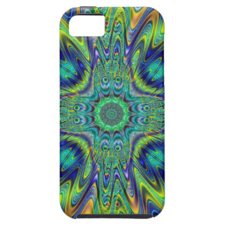 Peacock Feather Neon Fractal Funky Designer Art iPhone 5 Covers