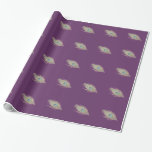 Peacock Feather on Dark Purple Gift Wrapping Paper