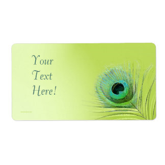 Peacock Feather on Green Label