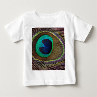 Peacock Feather On Right Side Close-Up Baby T-Shirt