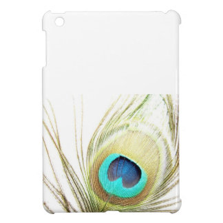 Peacock Feather on White Background iPad Mini Cases