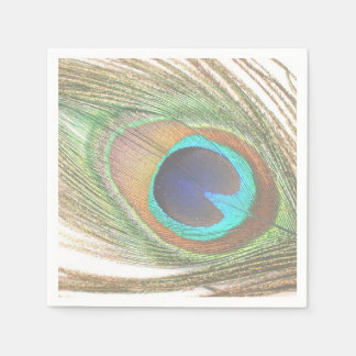 Peacock Feather Paper Napkin