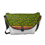 Peacock Feather Pattern Courier Bags