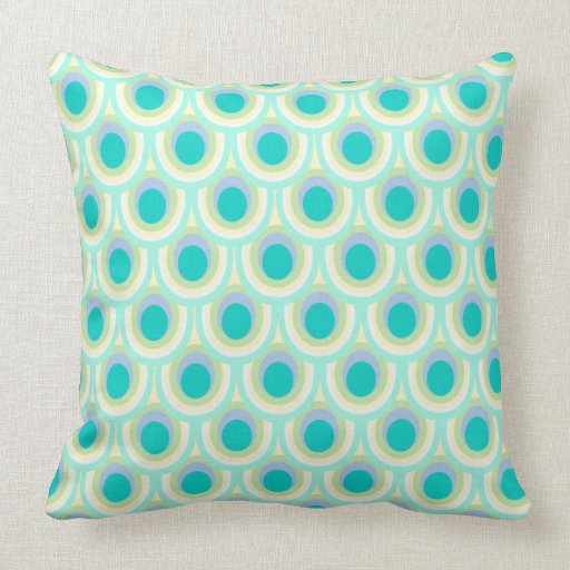 Throw Pillow Design Patterns : Peacock feather pattern design throw pillow Zazzle