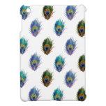 Peacock feather pattern iPad mini cases