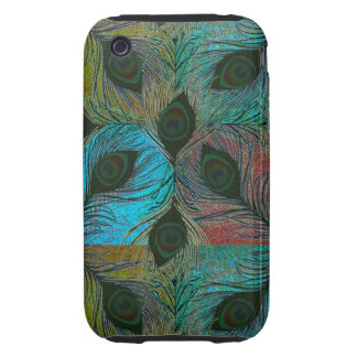 Peacock feather pattern iPhone3 phones iPhone 3 Tough Cover