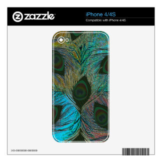 Peacock feather pattern iPhone skins Decal For iPhone 4