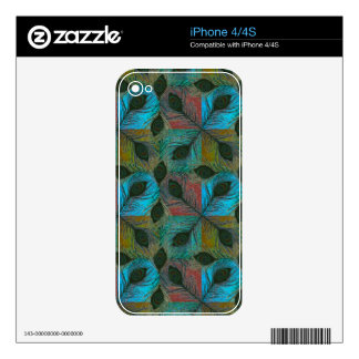 Peacock feather pattern iPhone skins Skins For iPhone 4