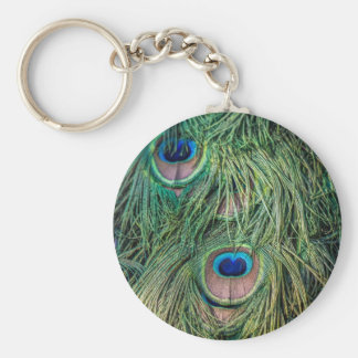 Peacock Feather Pattern Key Chains