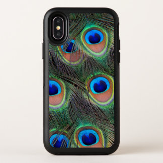 Peacock Feather Pattern OtterBox Symmetry iPhone X Case