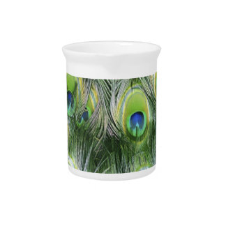 Peacock Feather Pattern Pitcher