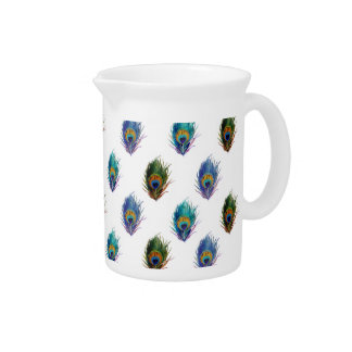 Peacock feather pattern pitchers