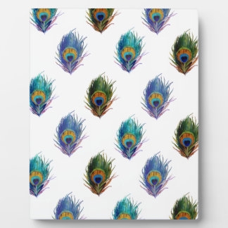 Peacock feather pattern plaque