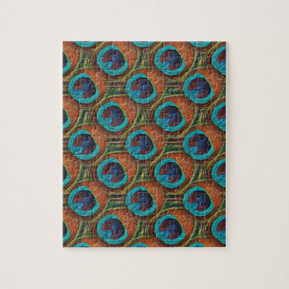 Peacock Feather Pattern Puzzle