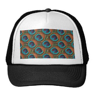 Peacock Feather Pattern Trucker Hat