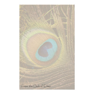 Peacock Feather Personalized Stationery