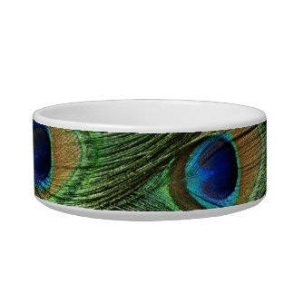 Peacock feather pet bowl