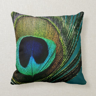 Peacock Feather Photography Photo Pillow Cushion