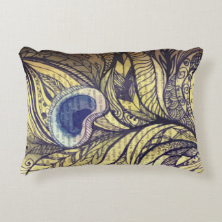 Peacock Feather Pillow Accent Pillow