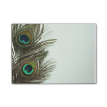 Peacock Feather Post-It Notes