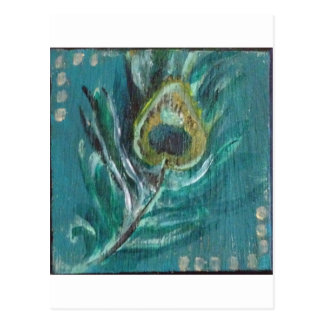 Peacock Feather Postcard
