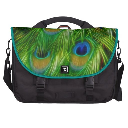 Peacock Feather Print Bag For Laptop