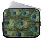 Peacock Feather Print Computer Sleeve